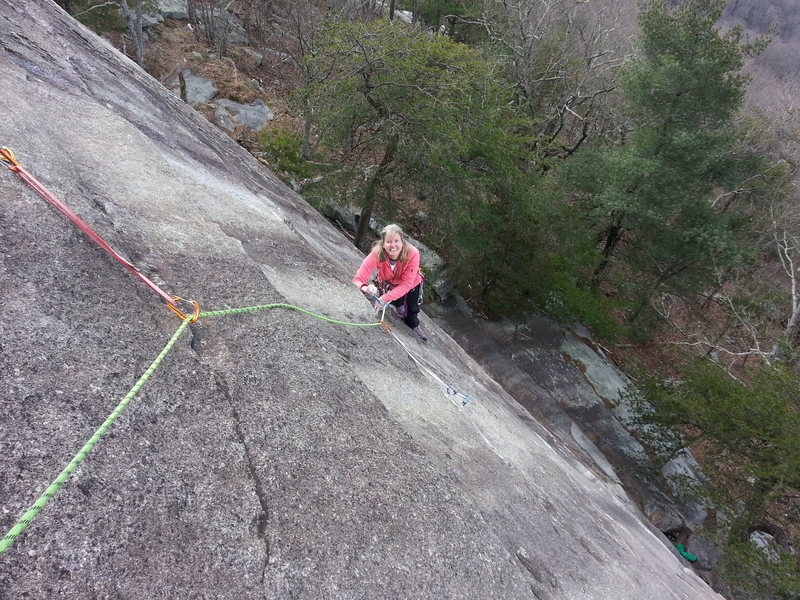 Rock Climbing Photo: Sue cleaning Special Edition.