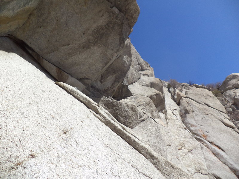 Rock Climbing Photo: Looking up from belay