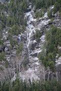 Rock Climbing Photo: Chouinard's Gully, early season.