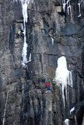 Rock Climbing Photo: Climbers on P2 of Spike. In these conditions, ther...