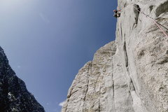 Rock Climbing Photo: At the Money on Pitch 2