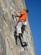 Rock Climbing Photo: Chris Owen leading El Chato.