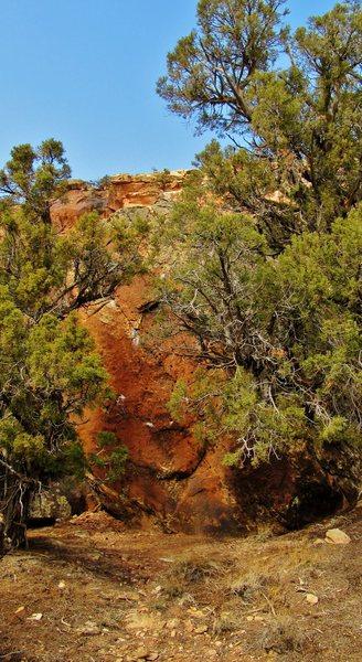 Rock Climbing Photo: Phobic Rock's southeast face, it's tough getting a...