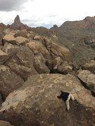 Rock Climbing Photo: Superstition Wilderness. Weaver's Needle.