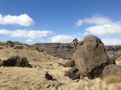Rock Climbing Photo: The Hairpin Boulder