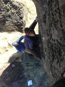 Rock Climbing Photo: Troy on Raw Tips