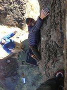 Rock Climbing Photo: Troy making the reach!