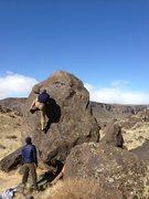 Rock Climbing Photo: Reggie on Slabby Side