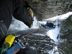 Rock Climbing Photo: Looking down the chimney of Too Tight for Pleasure...