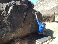 Rock Climbing Photo: Reggie on High Heels