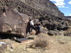 Rock Climbing Photo: Cory on Mecca Right