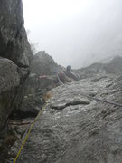 Rock Climbing Photo: Damp and chilly.