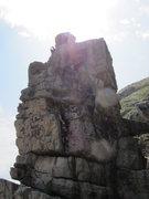 Rock Climbing Photo: Emma following