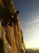 Rock Climbing Photo: Glamdring on a spring evening. Photo by B. Vo.