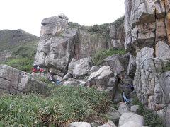 Rock Climbing Photo: hao duo ren
