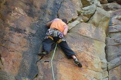 Rock Climbing Photo: leading