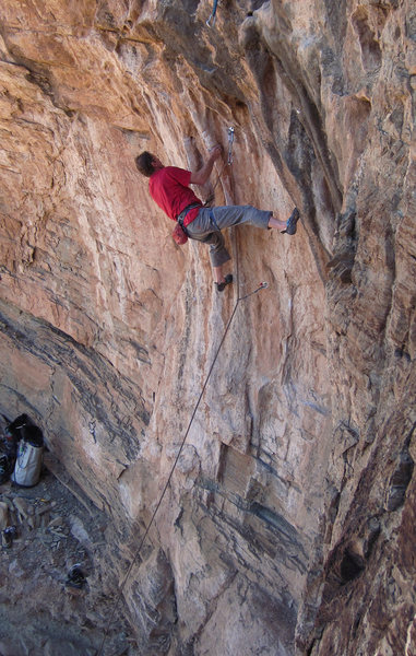 """Udder Madness"" perfect tufa <br> pinches at the bottom of<br> Fa-Lufa (5.11)"