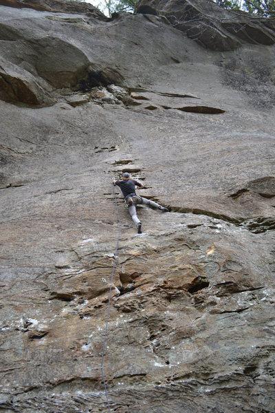 Rock Climbing Photo: Towards the top