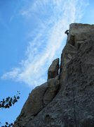 Rock Climbing Photo: On Two Fer.  Eeyore's Smile climbs the blocks on t...