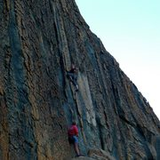 Rock Climbing Photo: Amy Wilkins on a super fun 5.9 on the Melting Wall...