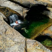 Rock Climbing Photo: Amy Wilkins loving the awesome swimming holes at L...