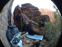 Rock Climbing Photo: Cool bivy