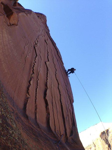 Rock Climbing Photo: Greg G. on the bolt ladder.