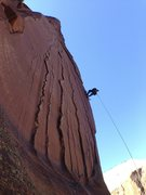 Rock Climbing Photo: Greg G. on the bolt ladder.