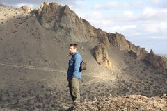 Rock Climbing Photo: At the top of Smith Rock, after hiking up Misery R...