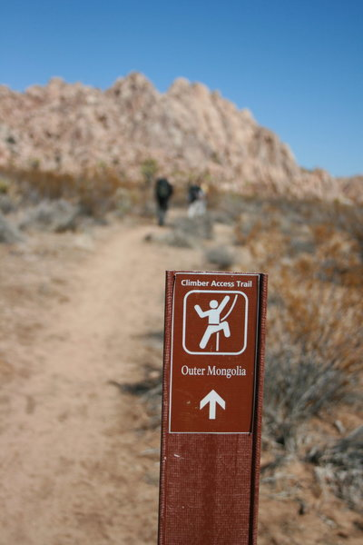 Rock Climbing Photo: follow the signs