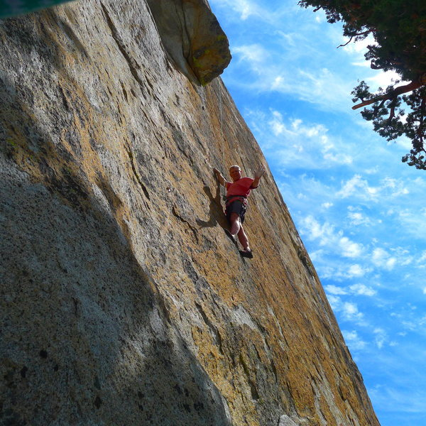 Rock Climbing Photo: Mike Arechiga on, Nosferatu. 5.10c Trapper Dome.