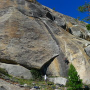 Rock Climbing Photo: Amy Wilkins on, Republican's On Crack. 5.8. Trappe...