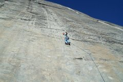 Rock Climbing Photo: Mike Arechiga on the first pitch of, A Little Nuke...
