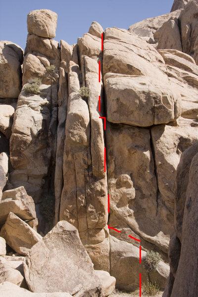 Rock Climbing Photo: Stake Your Claim Beta