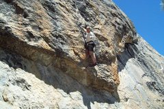Rock Climbing Photo: Mike Arechiga on, Orgasm Addict. 5.10d. Trapper Do...