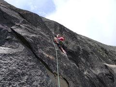 Rock Climbing Photo: Mike Arechiga on, El Grande. 5.10b. Chiquito Dome.