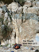 Rock Climbing Photo: The Fourth Wise Man (5.7), Frustration Creek