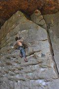 Rock Climbing Photo: Rick on Gunslinger, 5.11d stephens king library