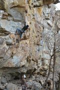Rock Climbing Photo: Rick at the crux on Tang 5.12a, Tierrany wall obed