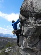 Rock Climbing Photo: Baldy on the second ascent of Still Gettin Booty