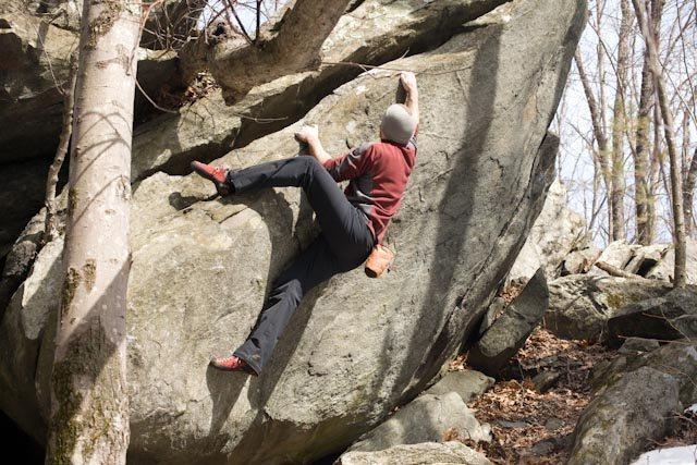 Rock Climbing Photo: Cool traversing boulder problem. Maybe V2.