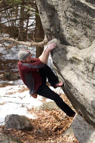 Rock Climbing Photo: Arete problem... probably V1+.
