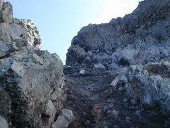 Rock Climbing Photo: The loose gully