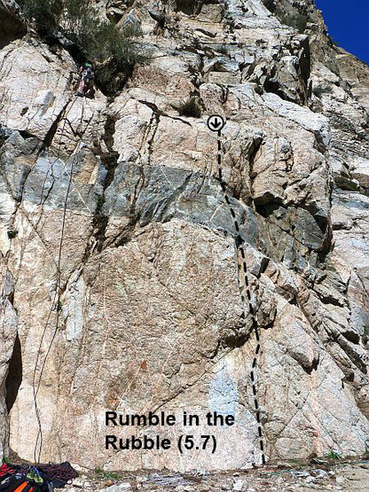 Rumble in the Rubble (5.7), Frustration Creek