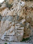 Rock Climbing Photo: Unnatural Act (5.10b), Frustration Creek