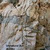 Unnatural Act (5.10b), Frustration Creek
