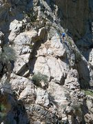 Rock Climbing Photo: Climber on the Middle Tier, Frustration Creek