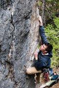 Rock Climbing Photo: Me climbing up the arete section.