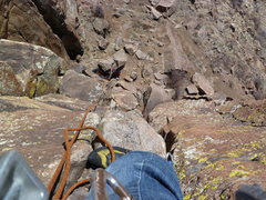 Rock Climbing Photo: Looking down from about halfway up.