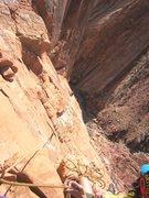 Rock Climbing Photo: Andy following P3